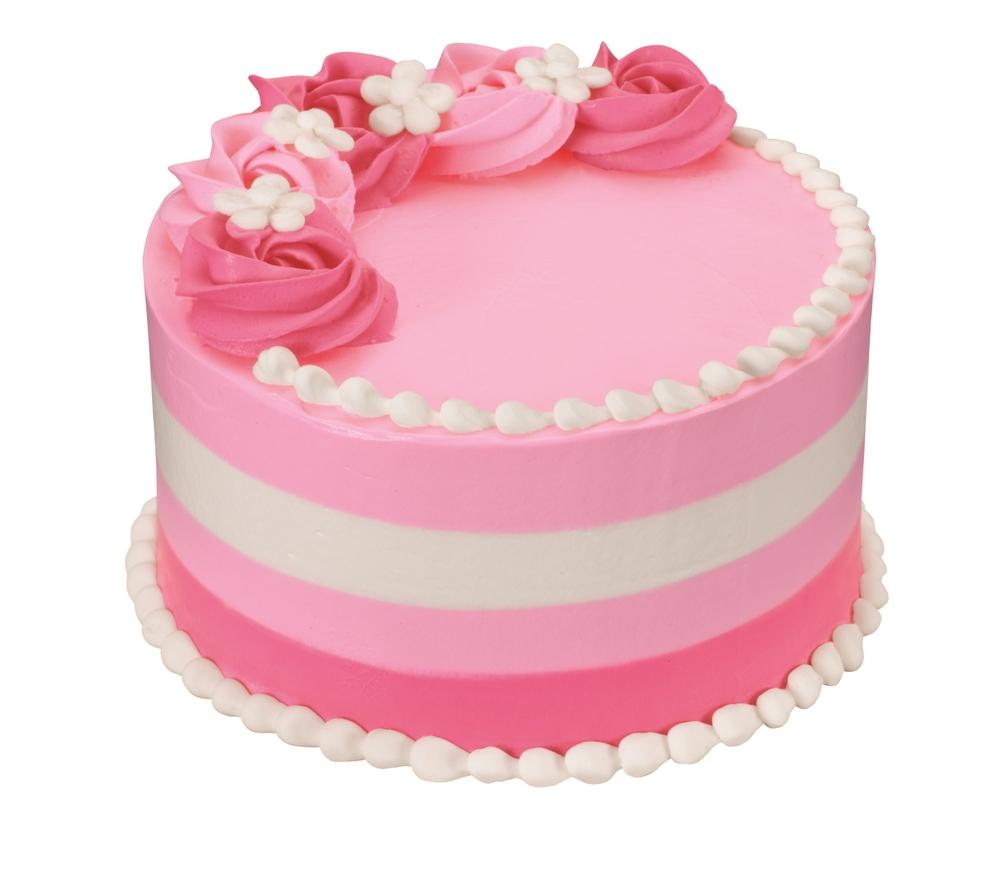Floral Stripe Cake