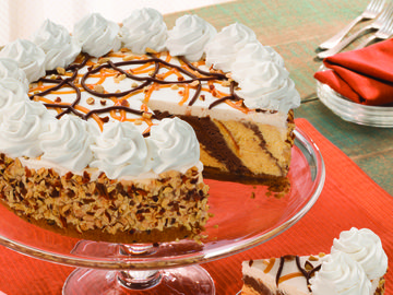 Caramel Delight Ice Cream Cookie Torte