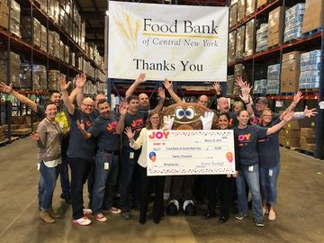 Food Bank of CNY Check Presentation