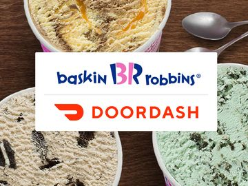 Order on DoorDash for Free Baskin-Robbins Delivered Right to Your Door!