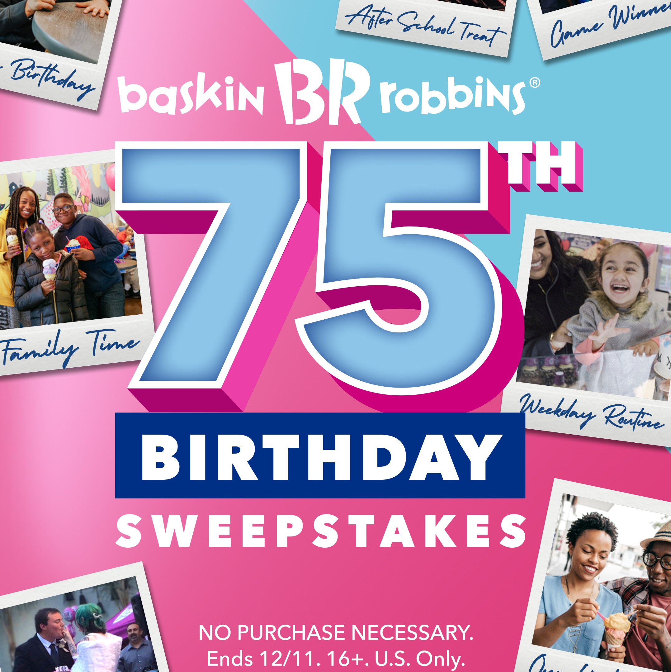 Enter- Baskin-Robbins' -75th- Birthday- Sweepstakes- for -a- Chance- to- Win- Free- Ice- Cream- for- Life