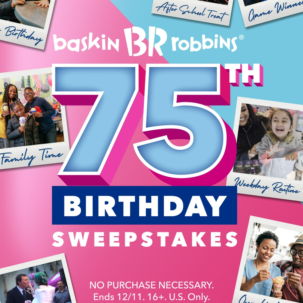 Enter Baskin-Robbins' 75th Birthday Sweepstakes for a Chance to Win Free Ice Cream for Life
