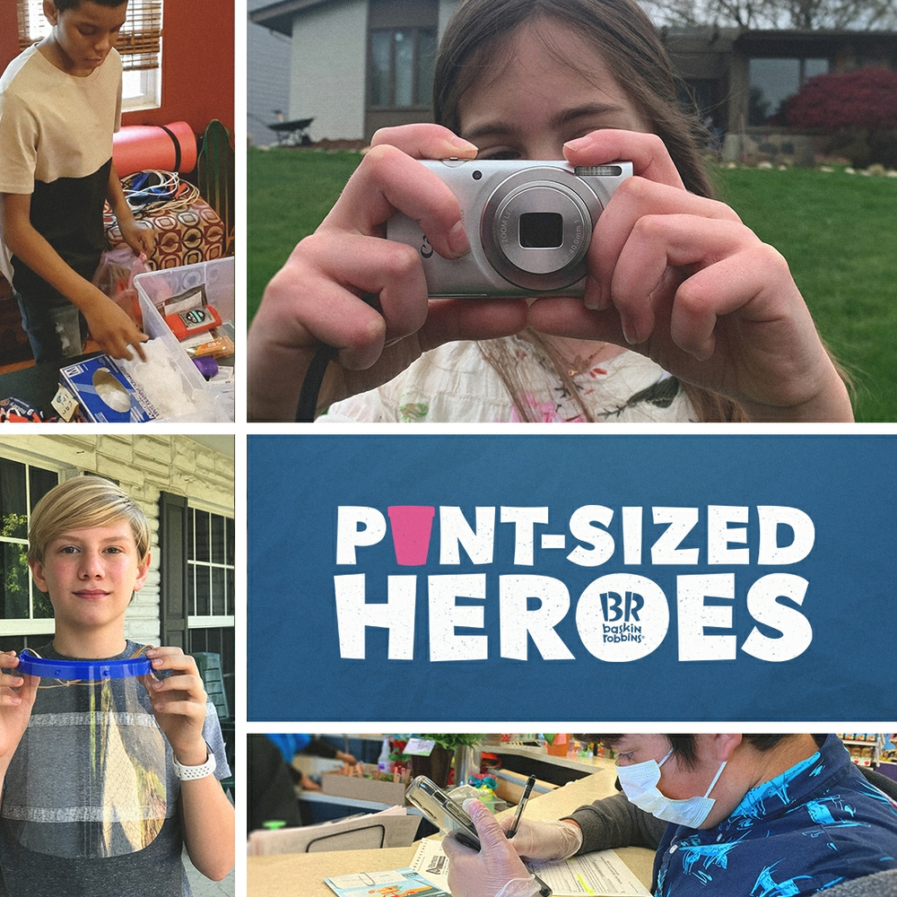 """Baskin-Robbins' New """"Pint-Sized Heroes"""" Program Proves You Don't Have to Be a Grown-up to Step Up"""