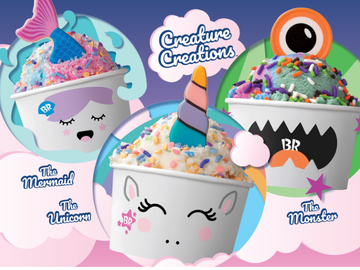 Baskin-Robbins' New Creature Creations™ Bring Your Favorite Ice Cream to Life with Three Imaginative Characters