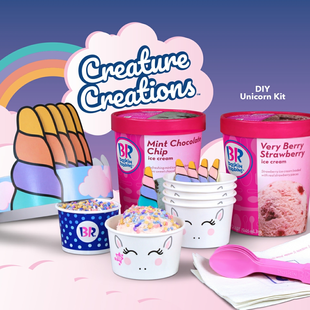 Bring the Magic Home with DIY Creature Creations® Kit's from Baskin-Robbins