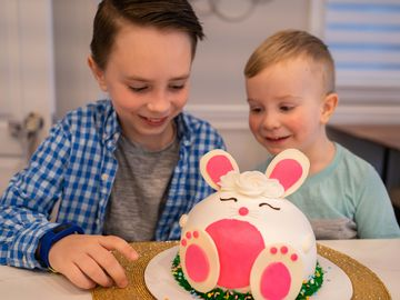 Hopscotch the Bunny Ice Cream Cake