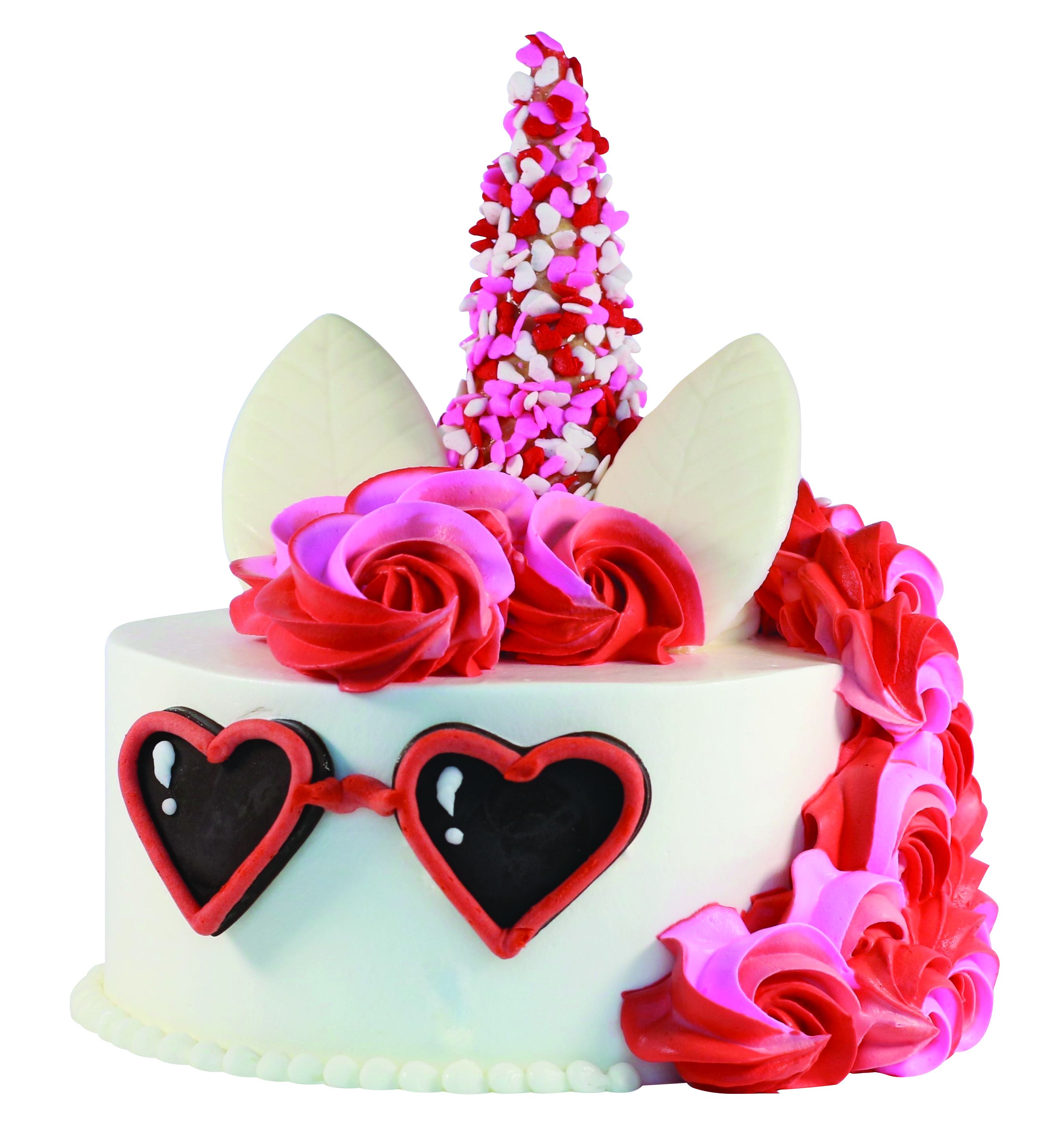 Valentine's Day Unicorn Cake