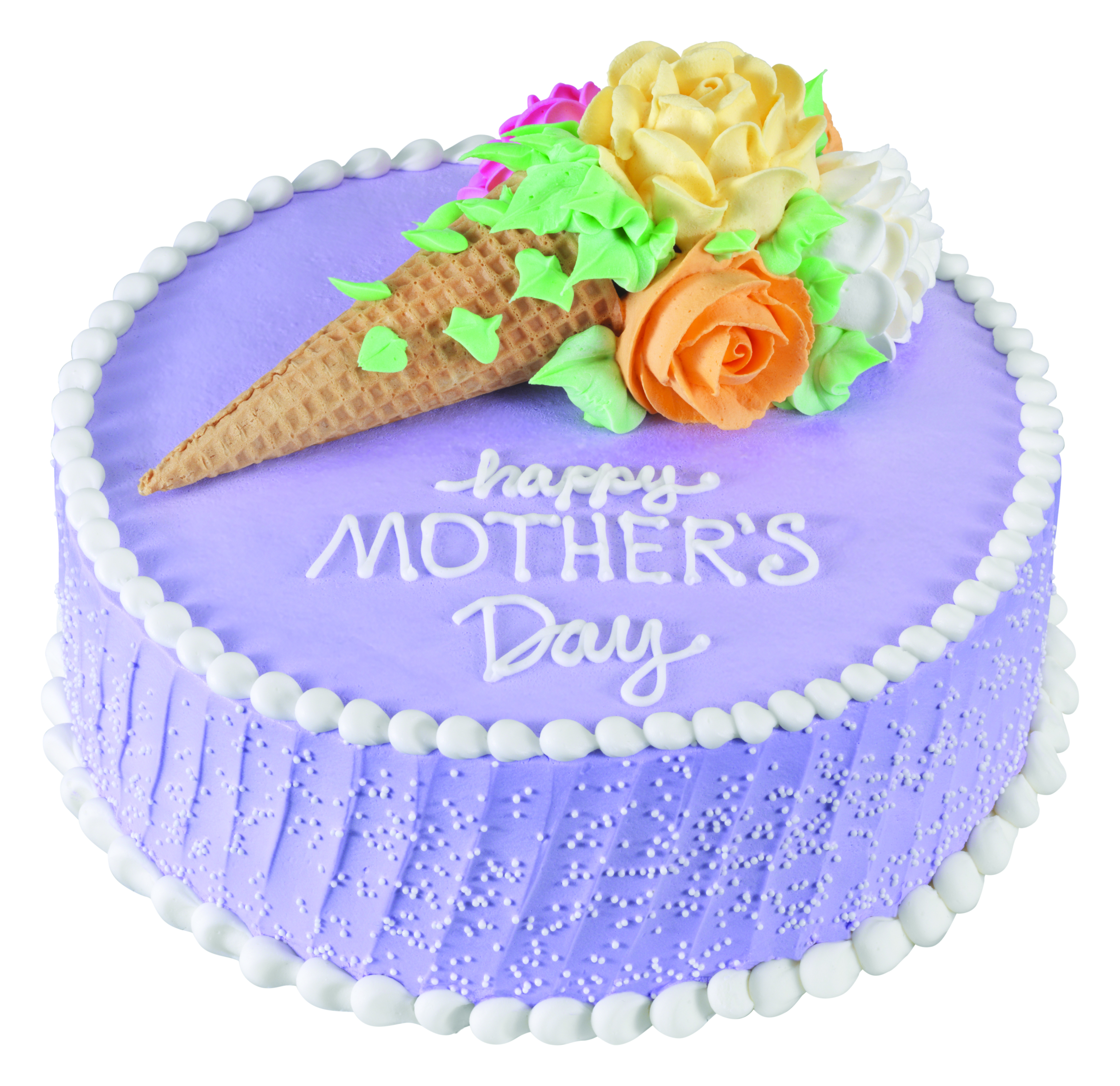 Mother's Day Floral Cone Boquet Cake