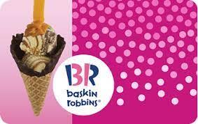 Baskin-Robbins gift card