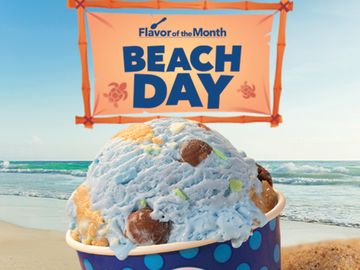 The Story Behind Baskin-Robbins' July Flavor of the Month Beach Day