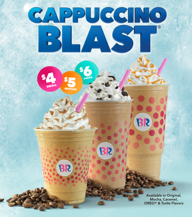Baskin-Robbins' Cappuccino Blast® Value Offer Will Please Your Taste Buds and Your Wallet