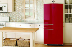 GE's Artistry™ refrigerator in Red Pepper