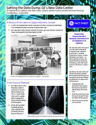 Getting the Data Dump: GE's New Data Center