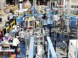 GE topload washer production line