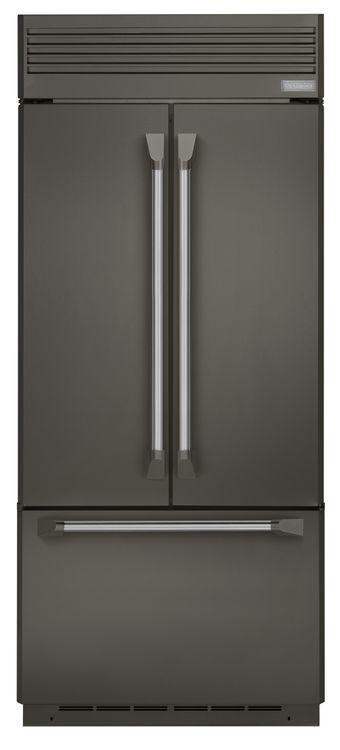 Monogram built-in French door refrigerator in Graphite