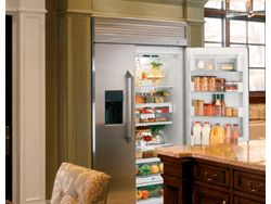 GE Monogram built-in side-by-side refrigerator
