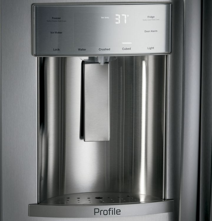 GE Profile™ Series Built-In, Side-By-Side Refrigerator with Dispenser (PSB42YSKSS)