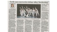 Chicago Tribune - Review: Robert Battle's 'Awakening' Revitalizes Ailey Troupe