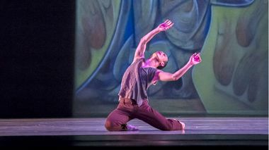 Alvin Ailey American Dance Theater's Kanji Segawa in Matthew Rushing's ODETTA