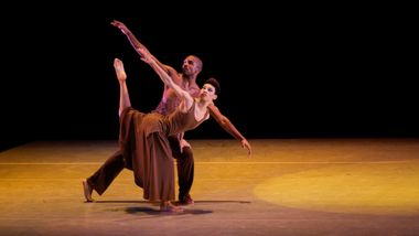 Ghrai DeVore and Michael Jackson Jr. in Alvin Ailey's Revelations