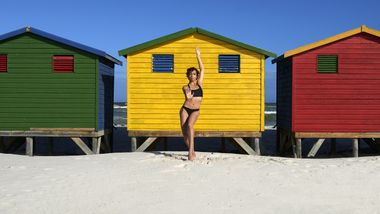 Alvin Ailey American Dance Theater's Sarah Daley-Perdomo in South Africa.