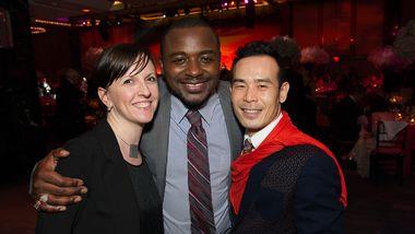 Jessica Lang and AAADT's Kanji Segawa with Artistic Director Robert Battle