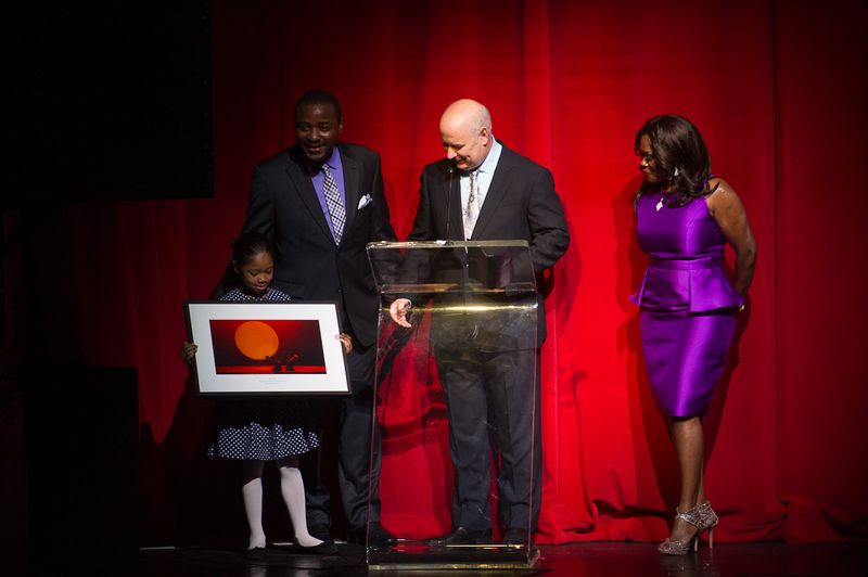 Student from The Ailey School, Robert Battle, Honoree Robert Kissane and wife Angela Kissane