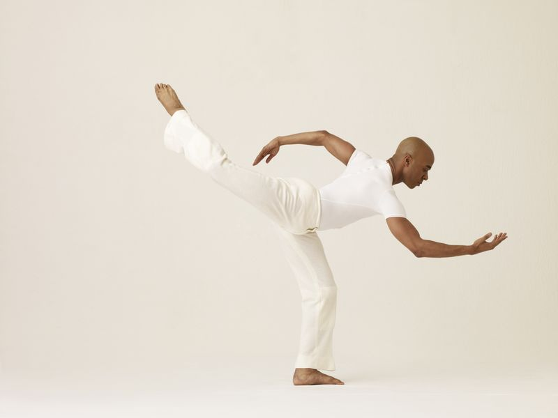 Alvin Ailey American Dance Theater's Matthew Rushing in Alvin Ailey's Revelations