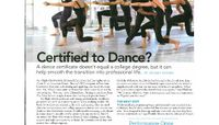 Dance Magazine - Certified to Dance?