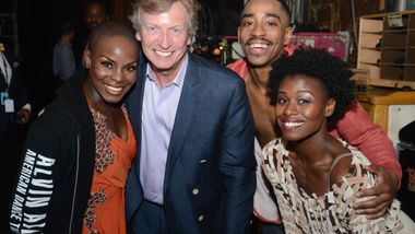 AAADT's Hope Boykin, Renaldo Maurice and Rachael McLaren with Nigel Lythgoe