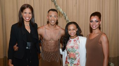 Dance Moms' Holly and Nia Frazier with AAADT's Yannick Lebrun and Fana Tesfagiorgis
