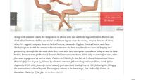Elle Magazine - Alvin Ailey Dancers Model Summer's Best Swimwear