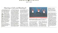 The New York Times - Hearing A Call, And Heeding It