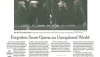 The New York Times - Forgotten Score Opens an Unexplored World