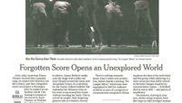 The New York Times - Forgotten Score Opens an Unexplored World