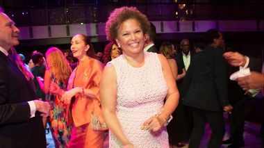 Board President Debra L. Lee at the 2015 Ailey Spirit Gala