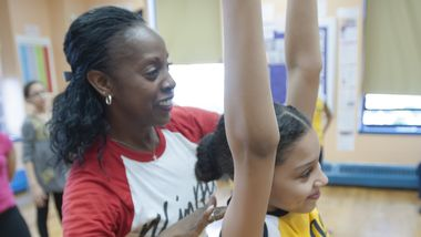 Nasha Thomas with AileyDance Kids at Public School IS 528
