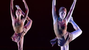 Students of The Ailey School in 'The Edge of the Edge' by Theresa Ruth Howard