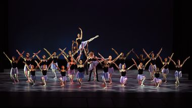 Students of The Ailey School in 'Divertimento' by Pedro Ruiz