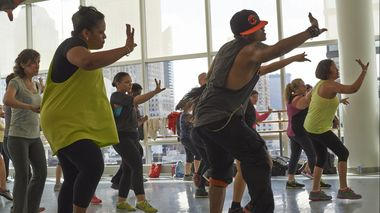 Zumba Class at Ailey Extension