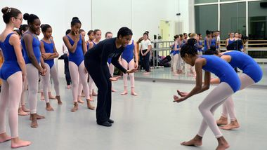 The Ailey School Junior Division Director Tiffany Barnes teaching Horton