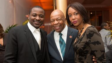 Robert Battle, Rep. Elijah E. Cummings, and Dr. Maya Rockeymoore Cummings