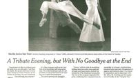 The New York Times - A Tribute Evening, But With No Goodbye At The End