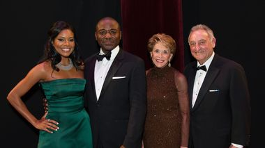 Actress and Honorary Chair Gabrielle Union with Artistic Director Robert Battle and Joan and Sanford Weill