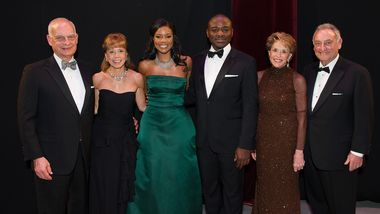 Eric J. and Daria L. Wallach, Actress and Honorary Chair Gabrielle Union, Artistic Director Robert Battle, and Joan and Sanford Weill
