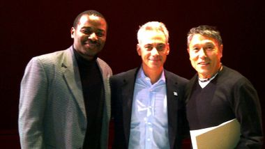Robert Battle, Chicago Mayor Rahm Emanuel and Masazumi Chaya