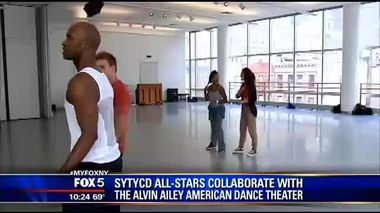 Fox 5 News - SYTYCD All-Stars Collaborate With The Alvin Ailey American Dance Theater