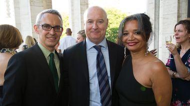 Bennett Rink with Robert and Jonelle Procope