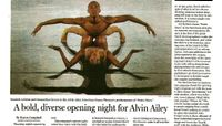 The Boston Globe - A Bold, Diverse Opening Night For Alvin Ailey