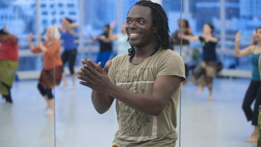 West African class at the Ailey Extension